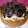 Cheesecake spéculoos, amaretto et sa sauce au chocolat (sans cuisson)