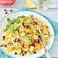 Salade de quinoa {orange, grenade & tofu au curry} #vegan