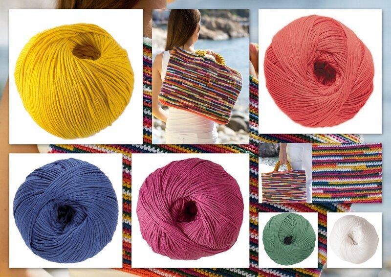 sac crochet dmc multicolore