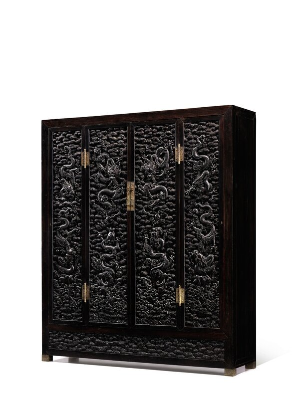 Dragon Emperor_An Exceptional and Massive Cabinet with Zitan Carved 'Dragon' Panels_007HK0678_942C7