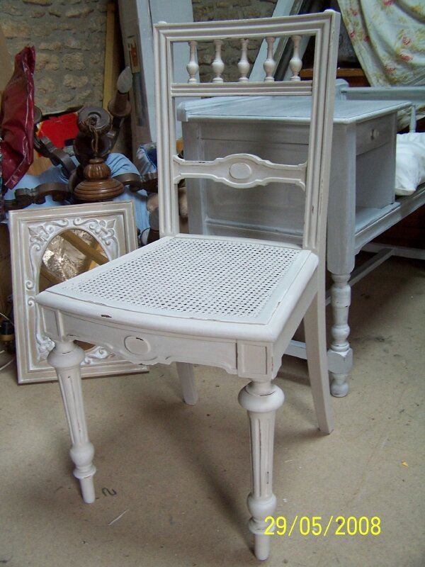 CHAISE PATINE LIN