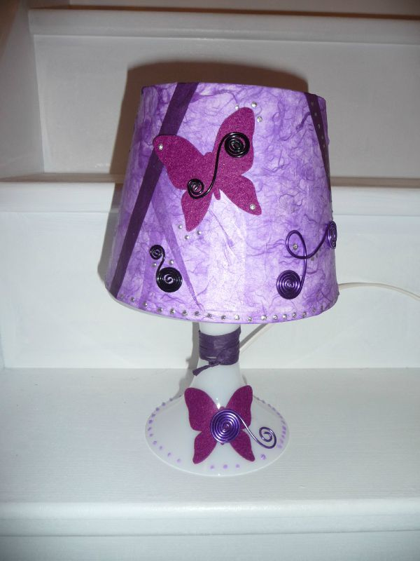 Mme De Fabrique Lampe Un Madame Chevet Violette ChQsdrt