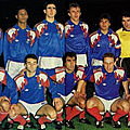 18 novembre 1989 FRANCE-CHYPRE ... MATCH DE QUALIFICATION POUR ITALIA 90