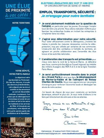Lettre candidature Claudine Thomas 2