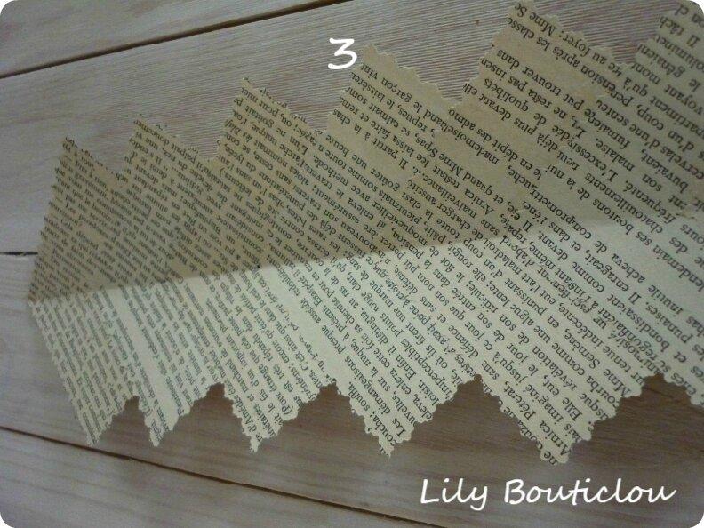 DIY couronne noël epiphanie vieux papier lilybouticlou
