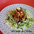 Galettes courgette-pomme de terre et crevettes au concentré de coco