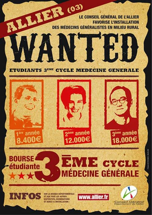 wanted medecins