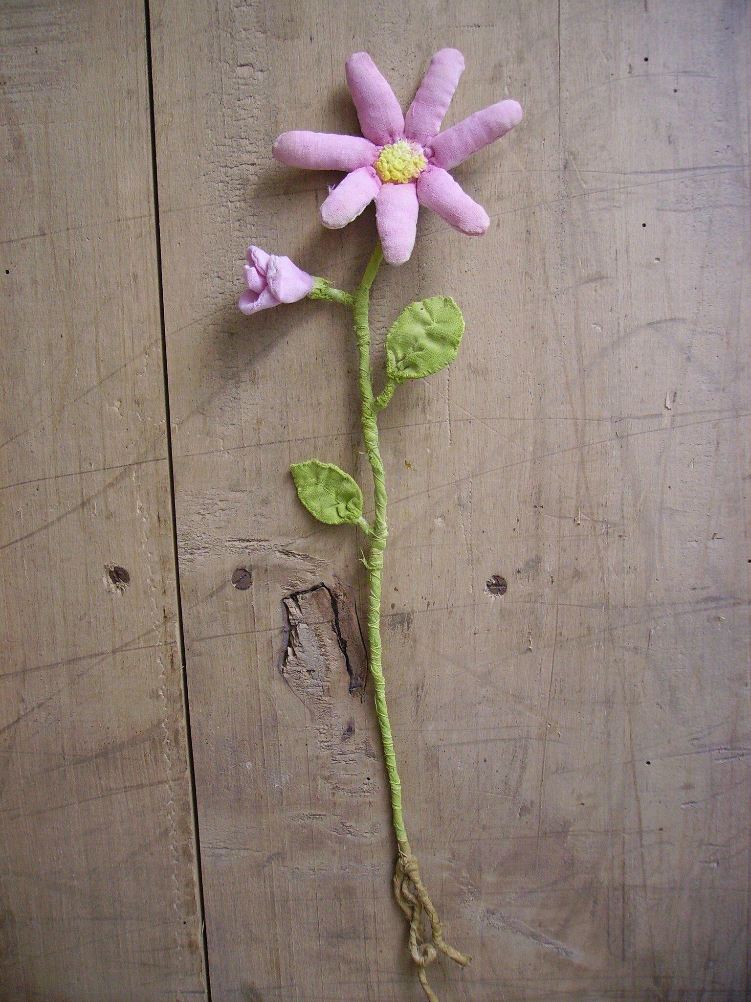 fleur rose textile