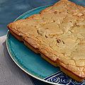 Brownie chocolat blanc - noix de pécan