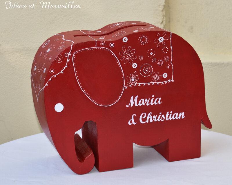 urne elephant bordeaux - idees et merveilles2