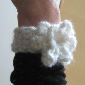 bracelet fleur laine