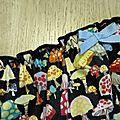 Culotte CHARLOTTE en coton noir imprimé champignons - taille M (2)