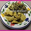 Poulet haricots verts au curry