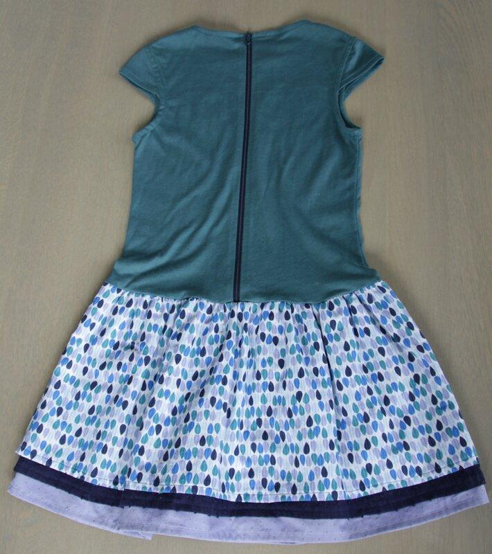 Robe babydoll Papillon et mandarine jersey France duval stalla vert canard (6)