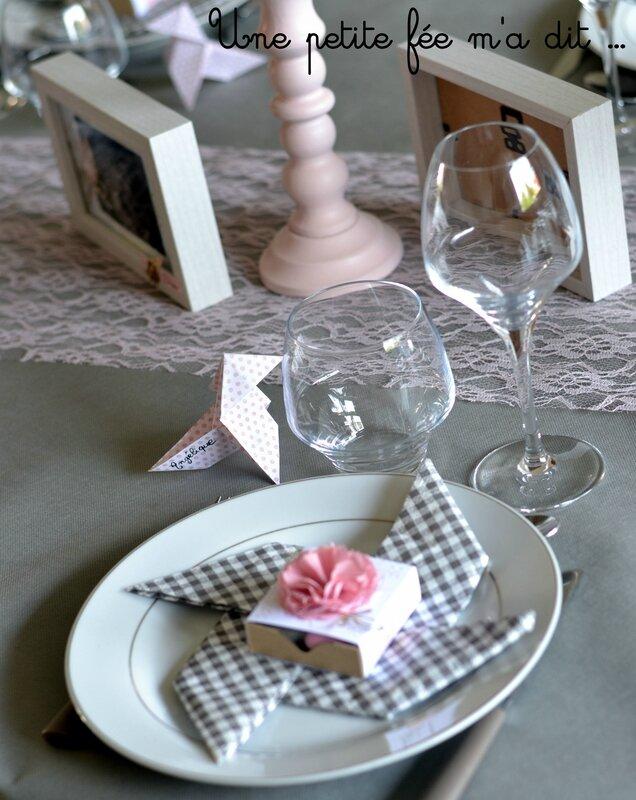 Décoration Communion Table Romantique Rose
