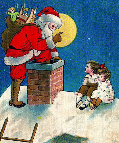 santa-chimney-vintage-image-graphicsfairy4d
