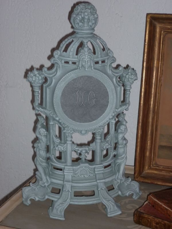 garniture patine gris zinc monogramme mg