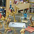 Figurines tuniques bleues en plomb numérotées blutch, chesterfield, stark....