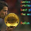 Justice vote cristiano ronaldo ballon d'or