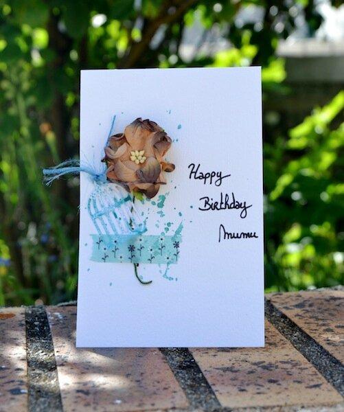 Carte anniversaire Mumu - Mai 2015