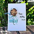 Carte d'anniversaire fleurie