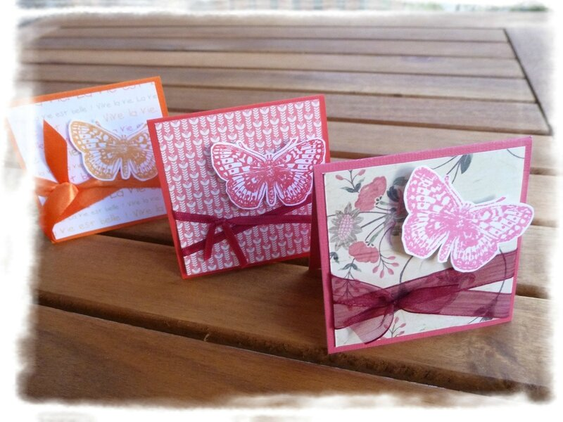 mini cartes papillons