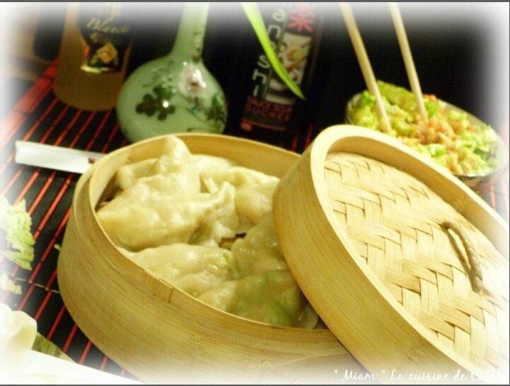 """ღ """" Miam """" Raviolis Chinois Haché de bœuf et porc et chou vert"""
