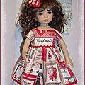 Robe et barrette pour poupée little darling dianna effner 39 euros frais d'envoi compris en lettre suivie