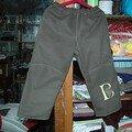 Pantalon brodé par tatie Sophie