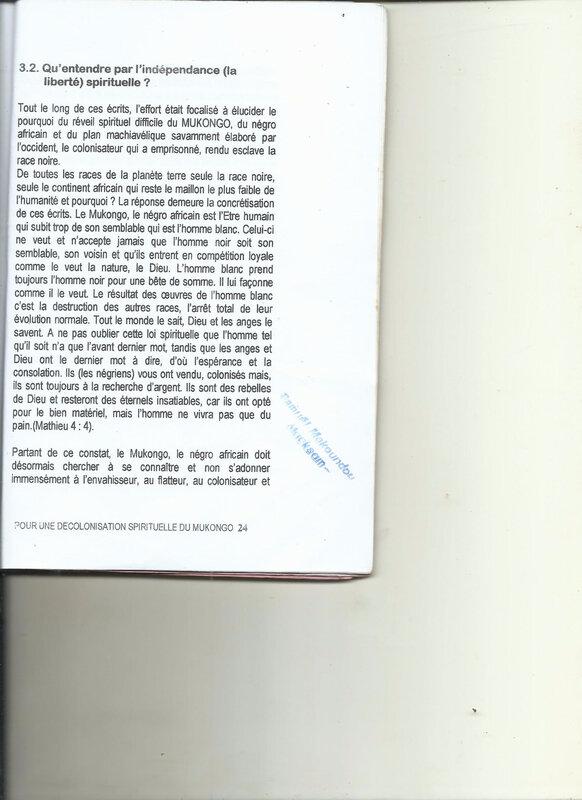 POUR UNE DECOLONISATION SPIRITUELLE DU MUKONGO 24