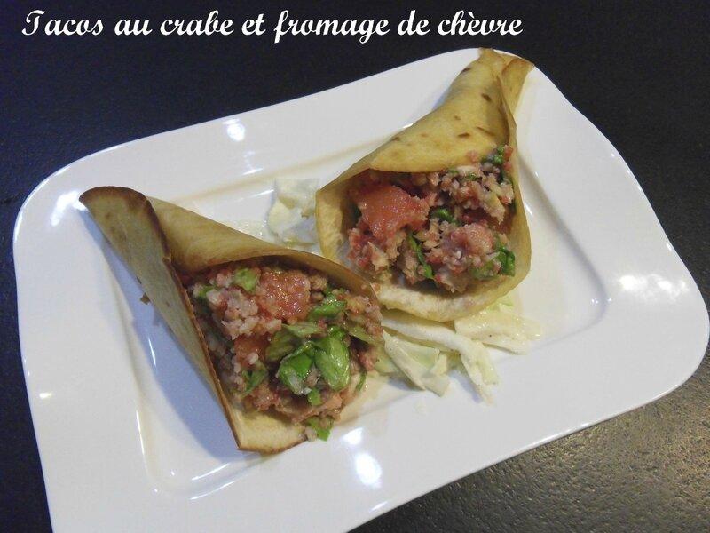 Tacos au crabe et fromage de chèvre