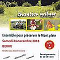 Chantier nature du samedi 24 novembre 2018