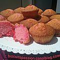 Muffins girly aux pralines roses