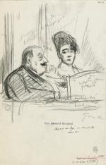 Paul-Charles Delaroche, loge au Vaudeville, 1913