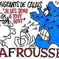 ps hollande humour calais casevide immigration