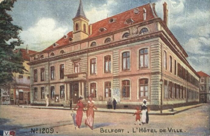 Belfort CPA LVC 1209 Hôtel de ville XX
