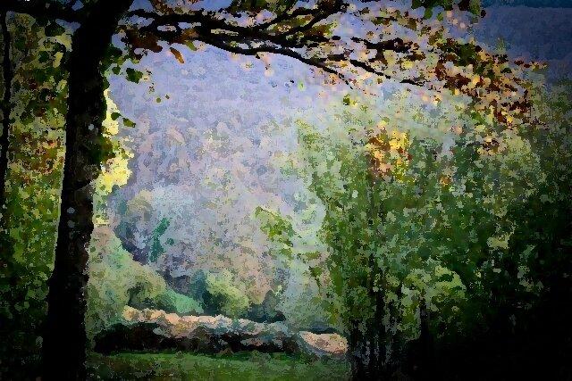 IL 171113 forêt d'automne peinture à sec