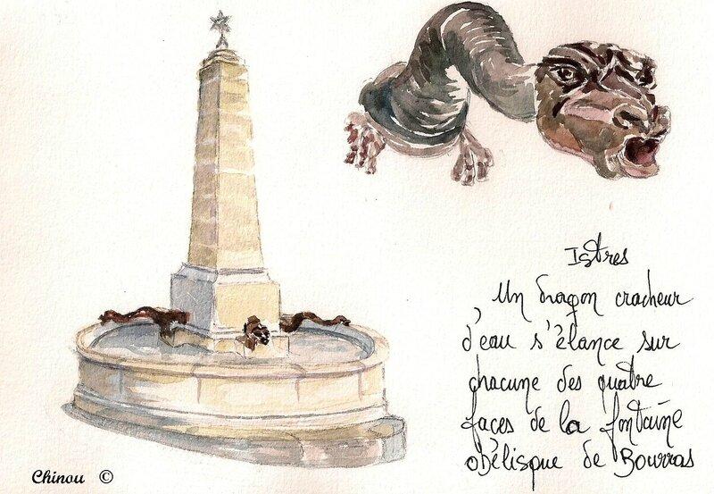 Fontaine aux dragons place du bourras à Istres