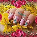 Crackle fleuri