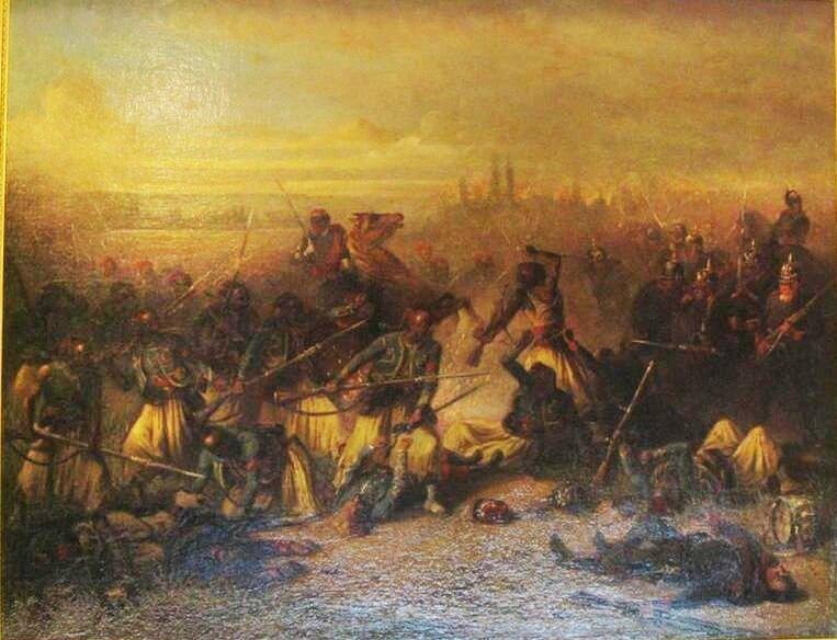 Bellangé (Eugène), La charge héroïque des Turcos à Woerth (1889)