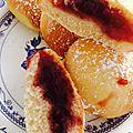 Beignets fourrés à la framboise ( cuisson au four )