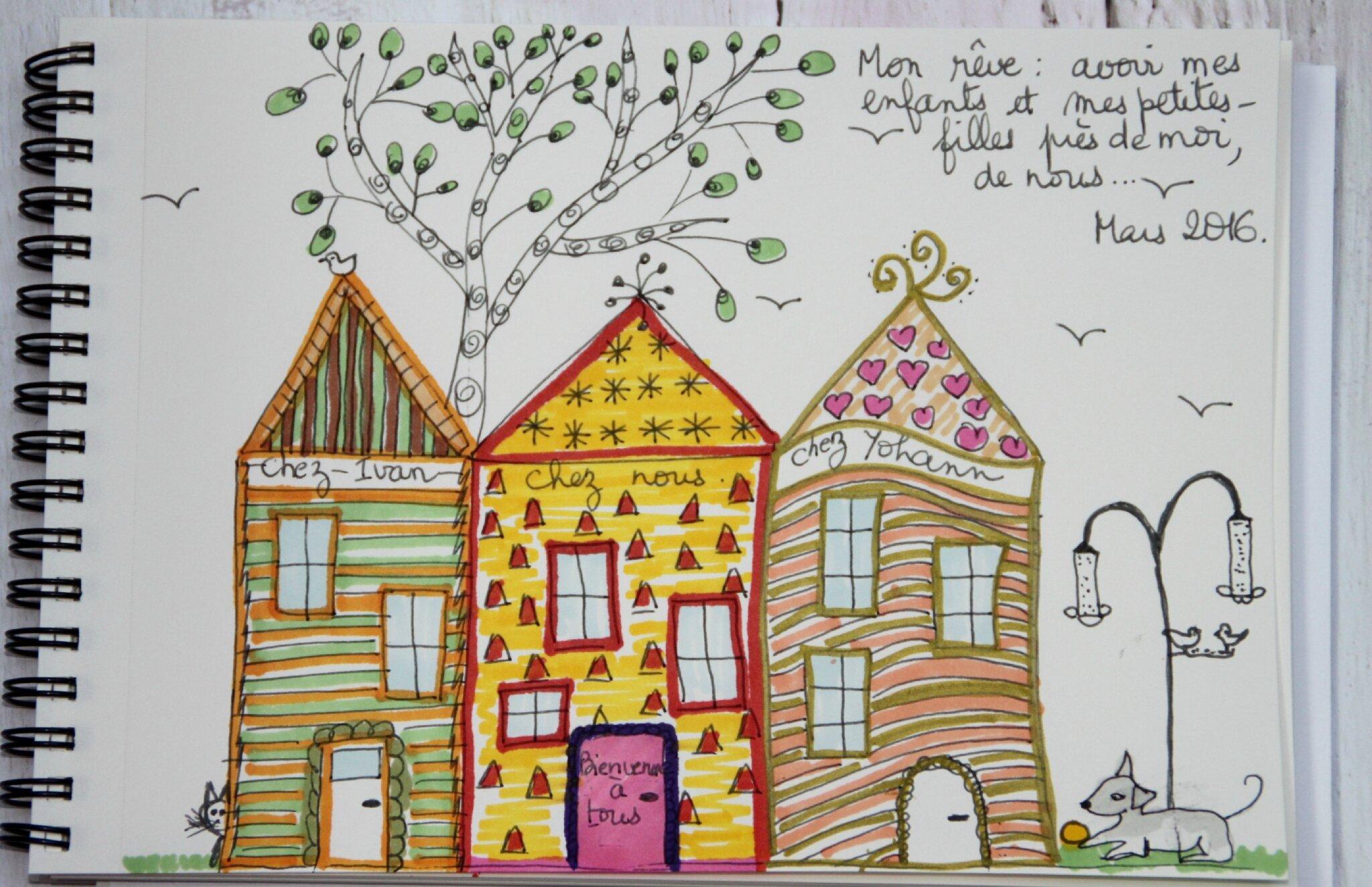 Un dessin par semaine la maison de mes rêves