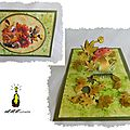 La chasse aux champignons... carte kirigami pop-up colorée aux encres