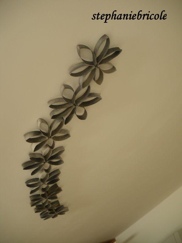 fleurs en rouleaux de papier toilettes