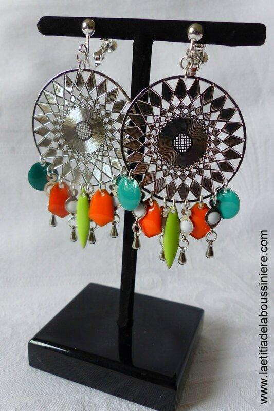 BO Aztèque (granny, orange, turquoise) - 37 €