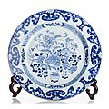 Blue and white duck plate, China, 17-18th Century, Kangxi period