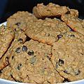 Cookies aux flocons d'avoine et au beurre de cacahuètes