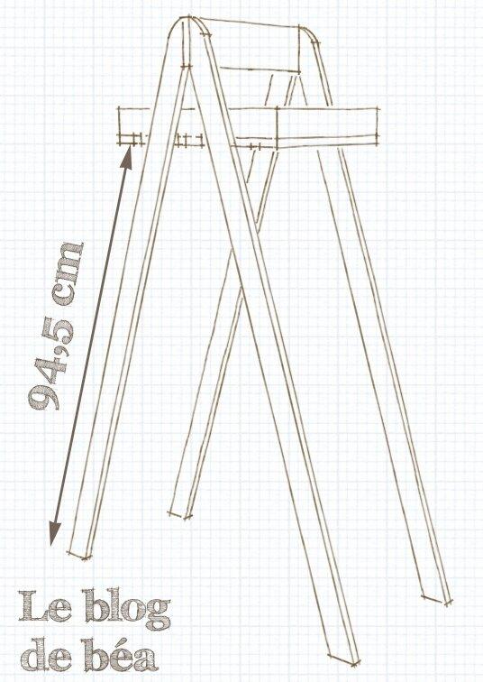 Etagère style escabeau fabriquée en bois de palette