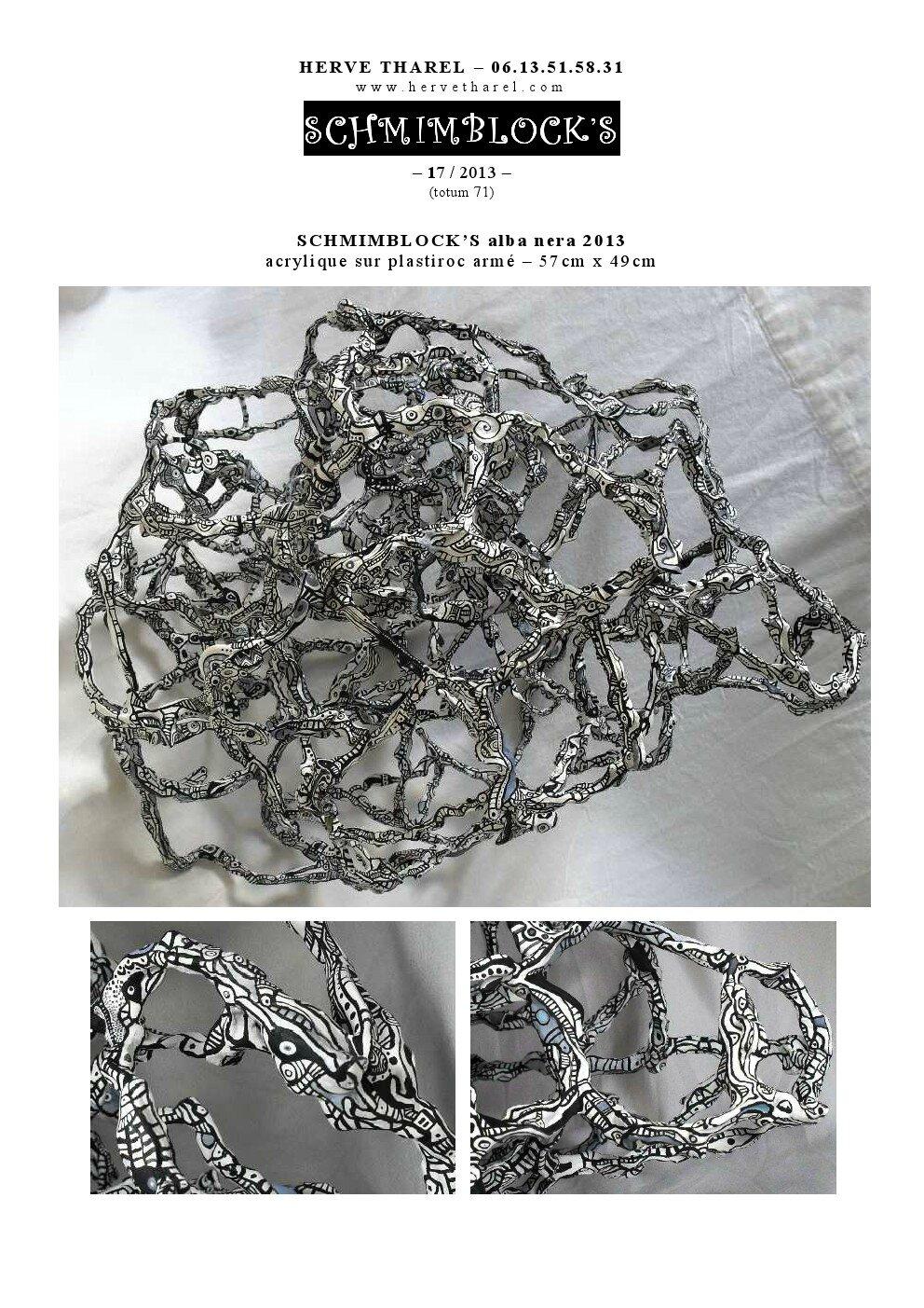page 17 2013-TOTUM 71 SCHMIMBLOCK'S alba nera 57cm x 49cm acrylique sur plastiroc armé