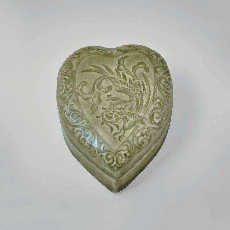 Yaozhou Leaf-shaped Box with Phoenix, Song- Jin Dynasty, 960-1279 A